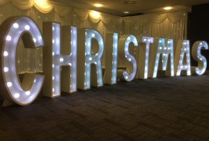 Light Up Letters Wales Christmas