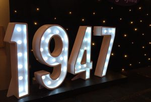 Light Up Numbers 1947 Letters Iluminated Wales