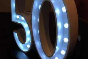 Illuminated Numbers 50