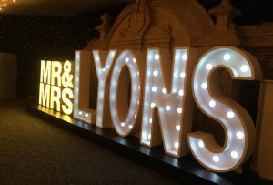 Light Up Letters Wales - Illuminated - Surname