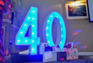 Light Up Letters Wales Numbers 40