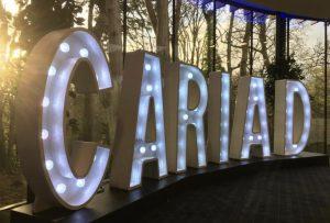 Illuminated CARIAD Letters