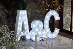 Light Up Letters Wales Wedding Initial letters