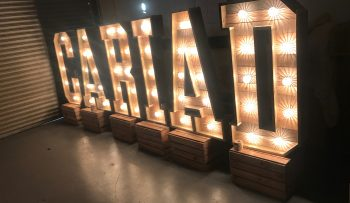 Light - Up -Letters - Wales - Rustic - Cariad - Letters
