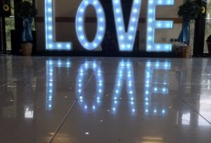 LOVE Letter Hire - South Wales - Light - Up - Letters - Wales