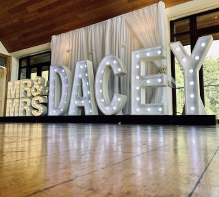 Light Up Letters Wales Mr & Mrs Dacey
